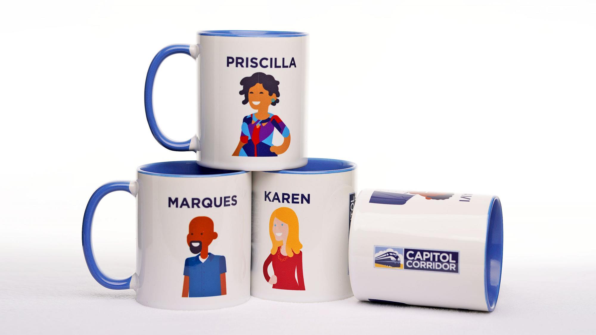 Capitol Corridor Cups