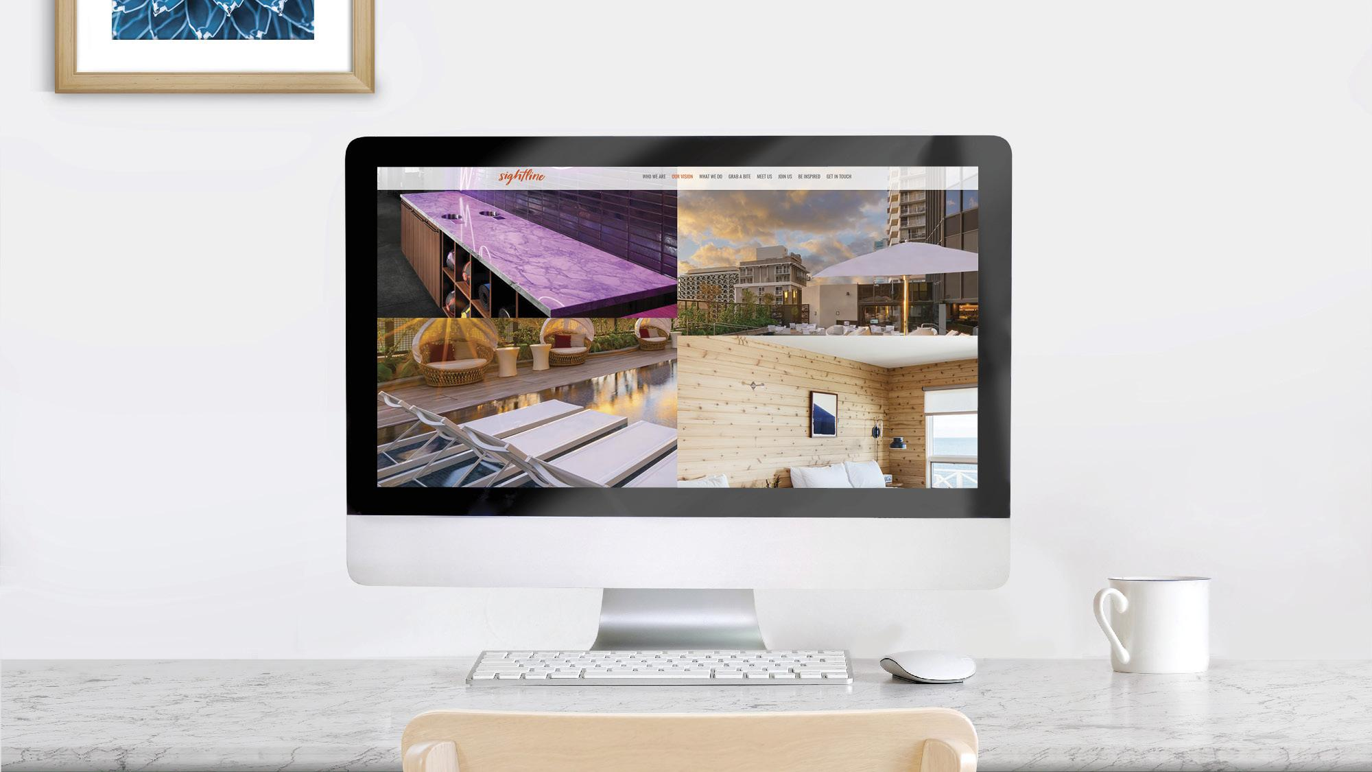 Computer with hotel images